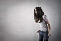 恼怒的女孩 库存图片
