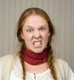 恼怒的女孩 免版税图库摄影