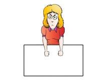恼怒的女实业家表达式 免版税库存图片
