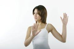 恼怒的妇女年轻人 库存照片