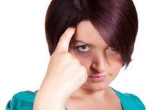 恼怒的妇女抱怨 免版税库存照片