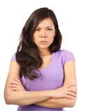 恼怒的妇女 库存图片
