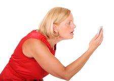恼怒的妇女 免版税图库摄影