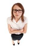 恼怒的妇女 图库摄影
