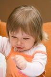 恼怒的婴孩 库存照片
