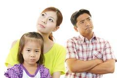 恼怒的家庭 免版税库存图片