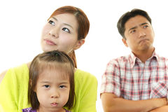 恼怒的家庭 免版税图库摄影