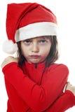 恼怒的小的圣诞老人 库存图片