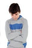 恼怒的少年男孩 库存照片