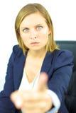 恼怒的强的妇女上司 库存图片