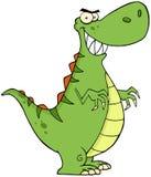 恼怒的恐龙漫画人物 向量例证
