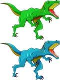 恼怒的恐龙猛禽另外颜色 库存照片