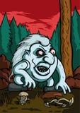 恼怒的拖钓在森林里 库存图片