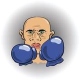 恼怒的拳击手 向量例证