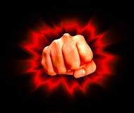 恼怒的拳头 向量例证