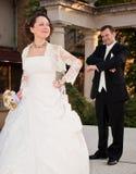 恼怒的新娘 库存图片