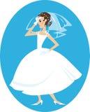 恼怒的新娘 免版税库存图片