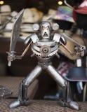 恼怒的机器人战士 库存图片