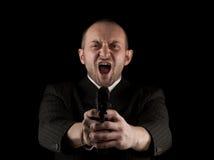 恼怒的枪藏品人 免版税图库摄影