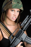 恼怒的海军陆战队员 免版税库存照片