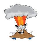 恼怒的火山动画片 库存例证