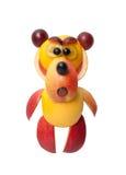 恼怒的熊由果子制成 库存照片
