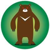 恼怒的熊 免版税库存图片