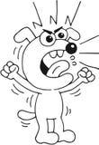 恼怒的狗 免版税库存照片