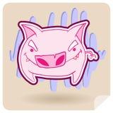 恼怒的猪 免版税图库摄影
