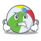 恼怒的球字符动画片样式 免版税库存照片