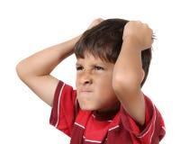 恼怒的男孩疯狂的年轻人 库存图片