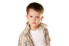 恼怒的男孩 免版税库存图片