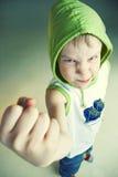 恼怒的男孩 图库摄影
