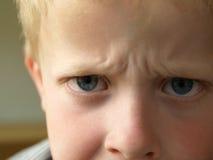 恼怒的男孩 库存图片