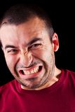 恼怒的男性人 库存照片