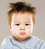 恼怒的男婴 图库摄影