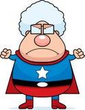 恼怒的祖母超级英雄 向量例证