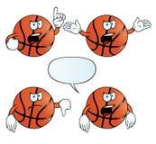恼怒的篮球集合 向量例证