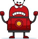 恼怒的红色机器人 库存图片