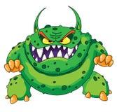 恼怒的绿色妖怪 免版税库存照片