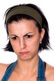 恼怒的美丽的深色的妇女年轻人 库存照片