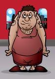 恼怒的肥胖人 库存图片