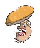 恼怒的蘑菇 免版税库存图片
