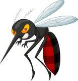恼怒的蚊子动画片 免版税库存图片