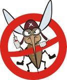 恼怒的蚊子符号警告 图库摄影