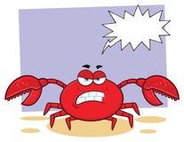 恼怒的螃蟹动画片吉祥人字符 皇族释放例证