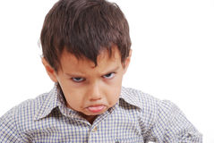 恼怒的表达式了不起的孩子非常 免版税库存照片