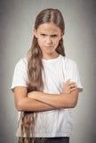 恼怒的被烦死的少年女孩 免版税库存照片