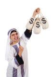 恼怒的阿拉伯人 免版税库存图片