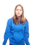 恼怒的青少年的女孩惊奇 库存图片